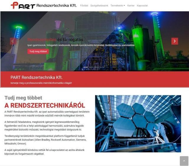 part-kft-fooldal-sliderrel-webfejlesztes