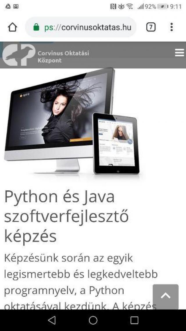 corvinus-weboldal-karbantartas-mobil