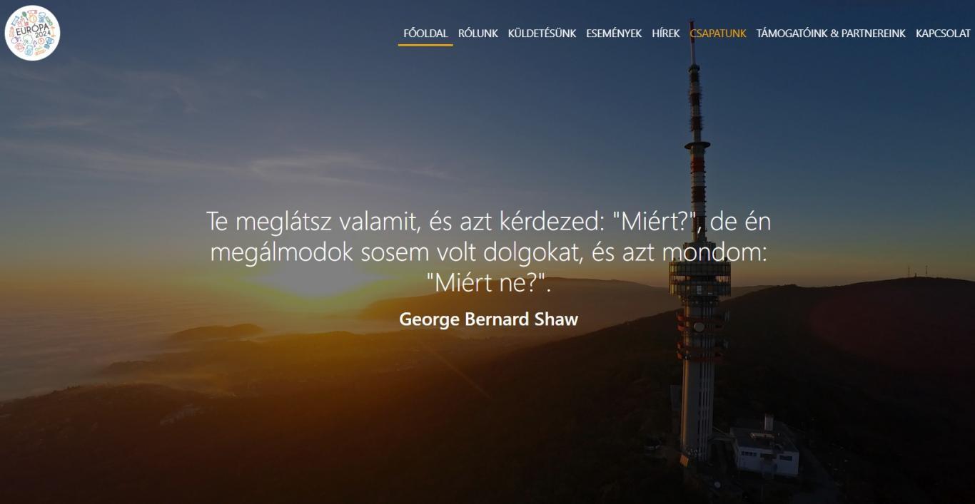 Támogattunk egy sportegyesületet - webfejlesztés kapott designterv alapján