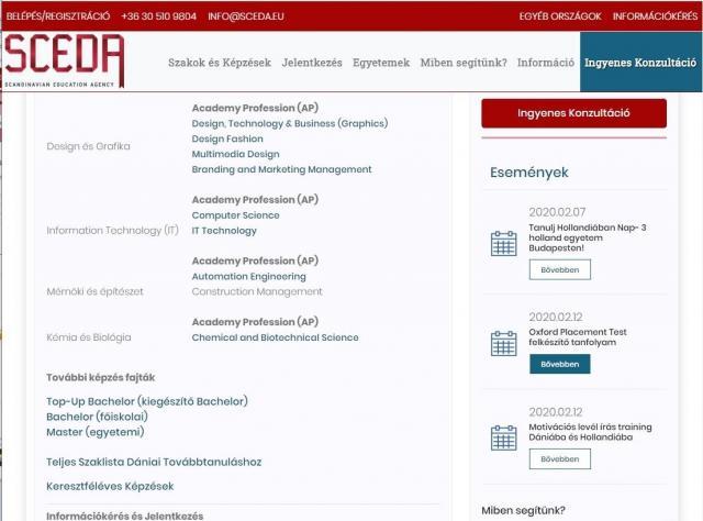 Sceda - teljes weblap újrahúzás